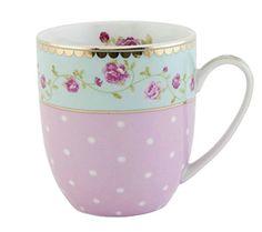 Clayre & Eef GRMUS Tasse Becher Kaffeetasse Blume innen c... http://amzn.to/28TuzAS