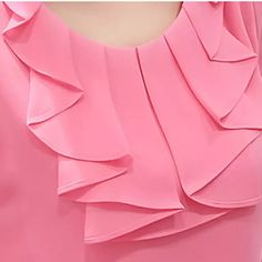 Apr this pin was discovered by r s. discover (and save! Kurti Neck Designs, Dress Neck Designs, Blouse Designs, Blouse Styles, Collar Designs, Dressy Tops, Korean Blouse, Collar Styles, Short Tops