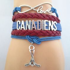 Infinity Love Montreal Canadiens Hockey Bracelet BOGO