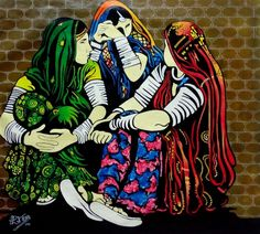 Buy Banjare 3 painting online - original museum quality artwork by Paresh More, available at Gallerist. Check price, painting and details online. Rajasthani Painting, Rajasthani Art, Human Painting, Figure Painting, Painting Canvas, Painting Classes, Indian Art Paintings, Modern Art Paintings, Indian Women Painting