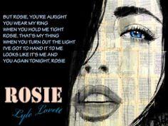 Lyle Lovett ~ ROSIE...w/Lyrics (Tribute to Jackson Browne)