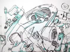 TIP 88 Study mechanical pieces for credible Concept art engines - theDesignSketchbook.com