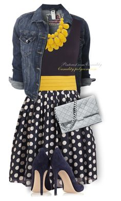"""Yellow + Grey + Navy"" by casuality ❤ liked on Polyvore featuring Gianvito Rossi, STELLA McCARTNEY and plus size dresses"