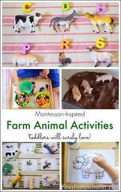 Collection of Farm Animal Activities for Toddlers Months) - Montessori-Inspired Farm Animal Activities for Toddlers from The Pinay Homeschooler - Farm Activities, Animal Activities, Montessori Activities, Preschool Activities, Preschool Farm, Kindergarten Inquiry, Montessori Classroom, Preschool Learning, Animal Crafts