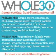 Freezer Cooking, Part 1 (With Maria Barton) - The Program Paleo Freezer Meals, Freezer Cooking, Cooking Tips, Cooking Games, Paleo Whole 30, Whole 30 Recipes, Cooking Websites, Whole30 Program, Cooking Whole Chicken
