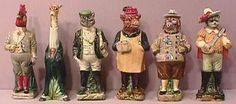 Majolica comes in every size and use as with these adorable antique figurines.