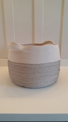 Made to Order Extra Large Rope Bucket with by PrairieStMercantile Blanket Basket, Rope Basket, Large Black, Solid Black, Black And White, Market Bag, Toy Storage, Diy Crochet, Sale Items
