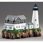 My mom called me last night to tell me this lighthouse figurine collection is on major sale. Then she told me to pick a couple out. Wood Island Light in Biddeford Pool, ME, is so beautiful!