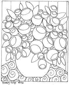 TAPETE gancho papel padrão florescendo tulipa Resumo arte popular Karla G in Artesanato, Artes domésticas e artesanato, Tapeçaria | eBay