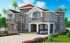 Typical #Kerala #Home 3447 Sq-ft  Ground Floor - 1932 sq.ft Car Porch Sit Out Drawing Room Dining Room & Family Living Bedroom 2 (Attached 1) Common Toilet 1 Back sit out Kitchen Store Work Area First Floor - 1515 sq.ft Bedroom 2 (Attached Dressing & Toilet) Upper Living 2 Balcony attached Bedroom Store