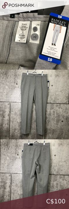 🆕 Badgley Mischka Light Gray Ankle Pants Brand new with tag. Color is close to light gray. Badgley Mischka Pants & Jumpsuits