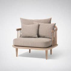 & Tradition FLY Chair SC1 White Oiled Oak