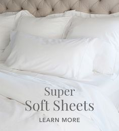 the softest best sheets ever by Boll and Branch - organic, fair trade