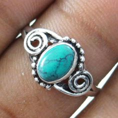 This is beautiful Silver Plating done on Solid Copper metal stone size ring. It is high quality fashion ring.this is img Fashion Rings, Fashion Jewelry, Copper Metal, Turquoise Stone, Stone Rings, Indian Fashion, Plating, Brooch, Silver