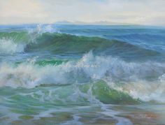 """""""Sport of the Waves"""" 11x14 oil on linen panel By Gobind Boyes"""