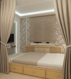 Дизайн спальни в хрущевке - узкая спальня, 8 кв м, 12 кв м, 160 фото
