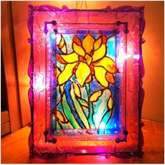 DIY tutorial with step by step instructions to make your own stained glass framed art.  Super easy & affordable!