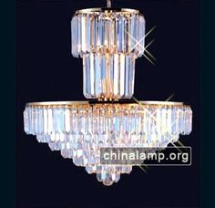 65cm Wide x 75cm High golden crystal chandelier