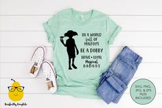 Funny Harry Potter Shirts, Dobby Harry Potter, Harry Potter Spells, Harry Potter Outfits, Harry Potter World, Family Shirts, Shirts For Girls, Disney Outfits, Disney Clothes