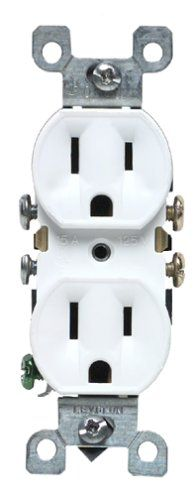 Leviton M1205320WMP 15 Amp Duplex Receptacle Grounded White 10Pack ** Click on the image for additional details. (Note:Amazon affiliate link)