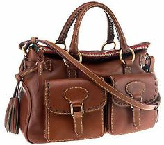 Dooney & Bourke Florentine Leather Satchel with Pockets