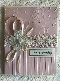 Birthday Cards Handmade Female, Birthday Cards For Women, Happy Birthday Cards, Female Birthday Cards, Happy Birthdays, Birthday Gifts, Handmade Greetings, Greeting Cards Handmade, Tarjetas Stampin Up