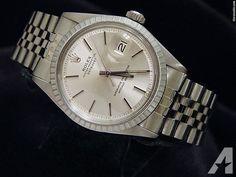 Rolex Stainless Steel Datejust Date Watch W/silver