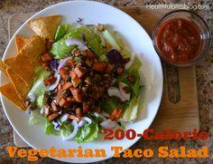 200 calorie vegetarian taco salad