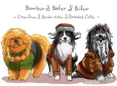 .If people were dogs --- more of the hobbit dwarves i think..