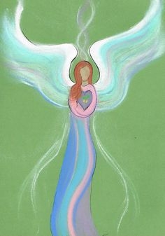 This angel carries a seed of change… Get your personalized intuitive angel drawing from: www.angelsco.nl