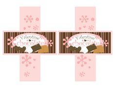 Printable Valentine chocolate bar wrapper and sleeve.