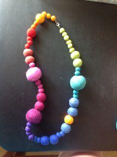 #Felt #Ball  necklace.