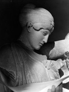 Nelly's (Elli Souyioultzoglou-Seraidari), Head of a female Lapith from the Battle of Centaurs scene on the temple of Zeus at Olympia. Ancient Greek Art, Ancient Greece, Benaki Museum, Greek Pantheon, Roman Art, Centaur, Advertising Photography, Sculpture, Color Photography