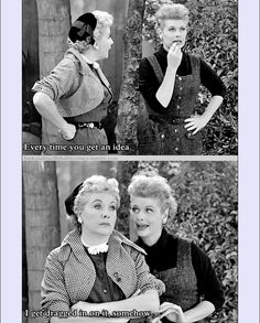 Lucy Ricardo and Ethel Mertz | I Love Lucy