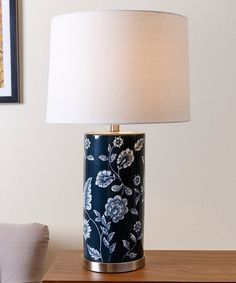 Blue Floral Table Lamp | zulily