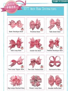 DIY Hair Bow Instructions | Bows, bows, bows, bows….. | diykawaii - Do It Darling