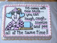 Maxine This is a cake I did for my Aunt's birthday. I did it with FBCT. I can't remember where I got the pic - I wish I did. Funny 50th Birthday Cakes, 60th Birthday Theme, 50th Birthday Cake For Women, Birthday Sheet Cakes, 50th Birthday Quotes, 50th Cake, Birthday Woman, Birthday Ideas, Birthday Jokes