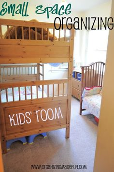 Kids room. Small space organizing