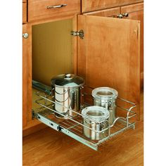 Rev-A-Shelf 11.75-in W x 18-in D x 7-in H 1-Tier Metal Pull Out Cabinet Basket