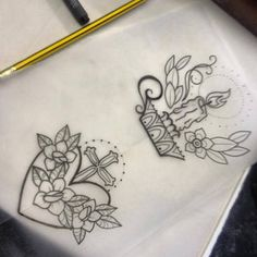 Like the heart shape and the style (candels tattoo) Cute Tattoos, Beautiful Tattoos, New Tattoos, Tatoos, Candle Tattoo, Lantern Tattoo, Tatto Love, Tattoo You, Tattoo Sketches