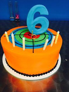 Laser tag target cake