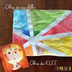 Imagem para a capa do post sobre klee Paul Klee Art, Art Projects, Kindergarten, Crafts For Kids, Children, Safari, Fun Kids Activities, Kids Activity Ideas, Kids Playing