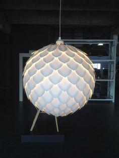 """Hanging PineCone Lamp - 16"""" (pendant. lighting. ceiling mount.)"""