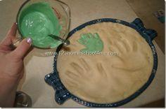 Pour Colored Plaster of Paris into Hand Mold