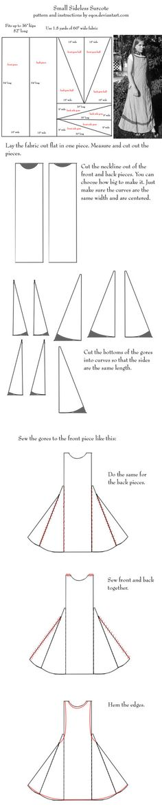 Pattern: small sideless surcoat by eqos (found on deviantArt)