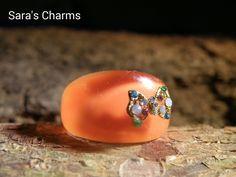 """Ring """"Schleife"""" orange von Sara´s Charms auf DaWanda.com"""