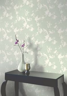 Opera Chinoise Shadow Wallpaper - Lilac at Homebase -- Be inspired and make your house a home. Buy now. Living Room Decor, Bedroom Decor, Sage Bedroom, Bedroom Ideas, Master Bedroom, Plain Wallpaper, Wallpaper Ideas, Lounge Decor, Lounge Ideas
