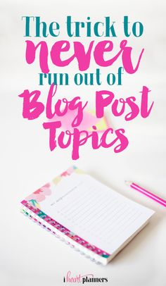 Never run out of blog post topics! Do you struggle to think of blog post ideas and wonder if you'll always have something to write about? After 3 years and over 200 posts, I still have ideas. I'm sharing how I never run out of post topics.