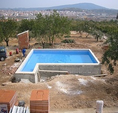 Installing a new pool is not something that should be taken lightly. You can't just wake up and decide to hire someone to build your pool. It requires planning; assessing the capabilities of the. Backyard Pool Designs, Backyard Ideas, Garden Ideas, Swimming Pool Construction, Pool Contractors, Pool Companies, Pool Installation, Building A Pool, Diy Pool