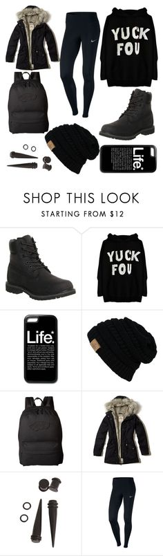"""Nord Trip Day 6"" by fngrlknd on Polyvore featuring Mode, Timberland, Vans, Hollister Co., Hot Topic und NIKE"